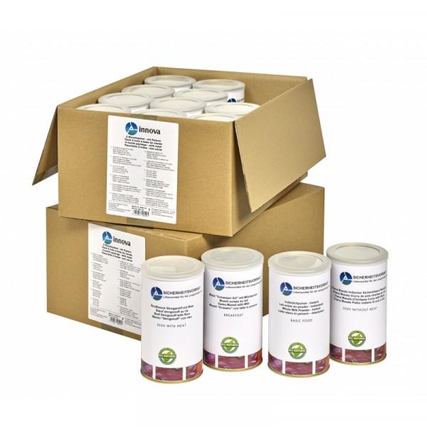 2 Monate Notvorrat - Paket (mit Fleischgerichten)