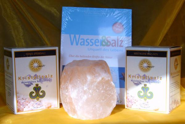 Aktionspaket: Kristallsalz, Grob und Fein je ca. 1000g, Buch P. Ferreira - Wasser&Salz