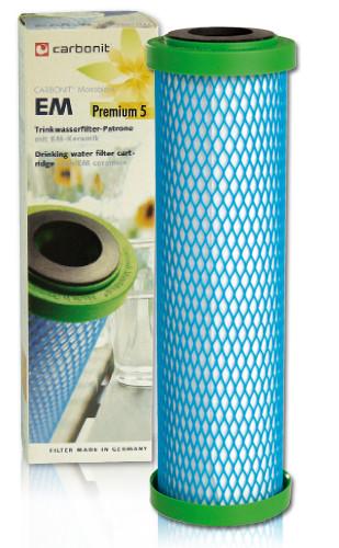 Carbonit EM Premium 5 reiner Aktivkohleblock; verbacken EM-Keramik - Ersatzfilterpatrone